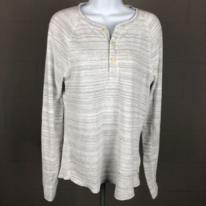 American Eagle Outfitters Men's Long Sleeve Henley